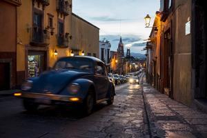 Volkswagen on Cobbled Street, San Miguel De Allende, Guanajuato, Mexico, North America by Ben Pipe