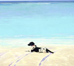 Beach Dog III, 1991 by Ben Schonzeit
