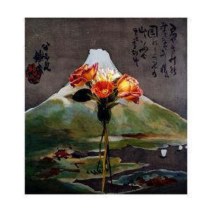 Flowers on Tessai Fuji, 1995 by Ben Schonzeit