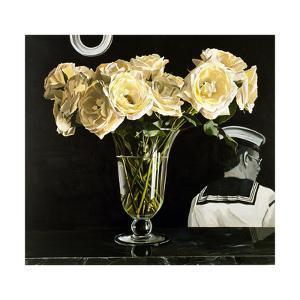 White Roses on Black, 2000 by Ben Schonzeit