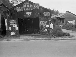 Advertisements for Popular Malaria Cure, Natchez, Mississippi, c.1935 by Ben Shahn