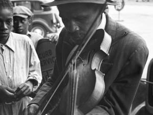 Blind Street Musician, West Memphis, Arkansas, c.1935 by Ben Shahn