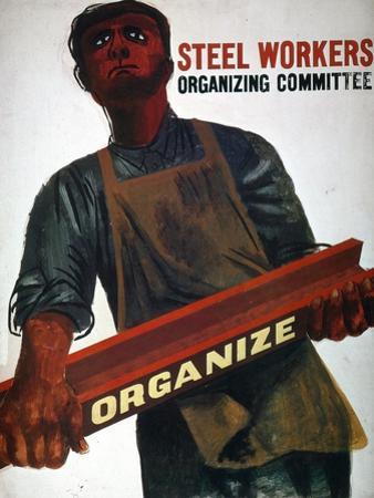 Shahn: Steel Union Poster
