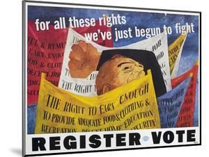 Voter Registration Poster by Ben Shahn