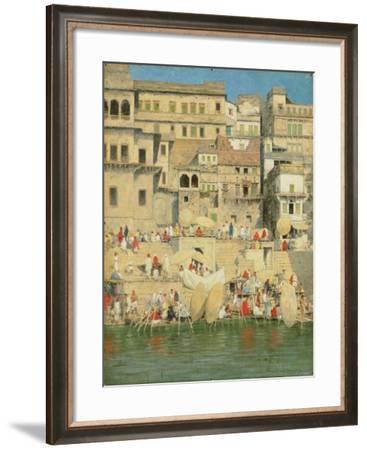 Benares, Blue Is the Sky-Mortimer Ludington Menpes-Framed Giclee Print