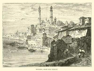 Benares, from the Ganges--Giclee Print