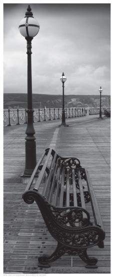 Bench on the Boardwalk--Art Print