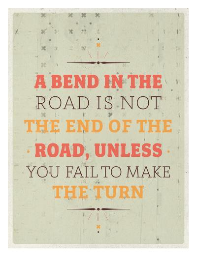 Bend in the Road-Maria Hernandez-Art Print