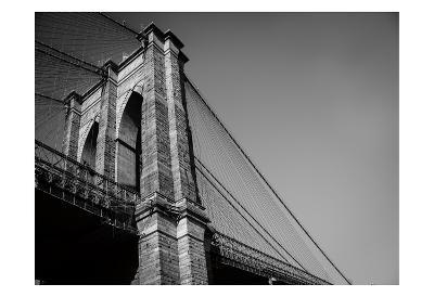 Beneath Brooklyn Bridge 2-Sonja Quintero-Art Print
