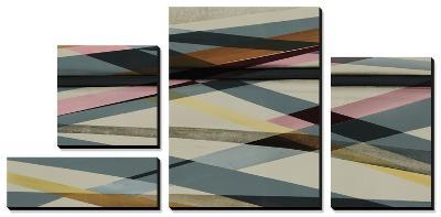 Beneath Grey - Pink-Sydney Edmunds-Canvas Art Set