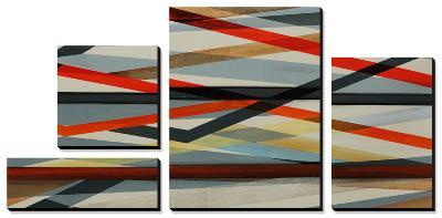 Beneath Grey - Red-Sydney Edmunds-Canvas Art Set