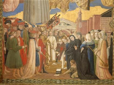 Banner of San Bernardino, People from Perugia Thank the Saint for the End of the Plague, C.1420-96