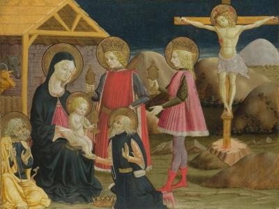 The Adoration of the Kings, and Christ on the Cross, Ca 1470