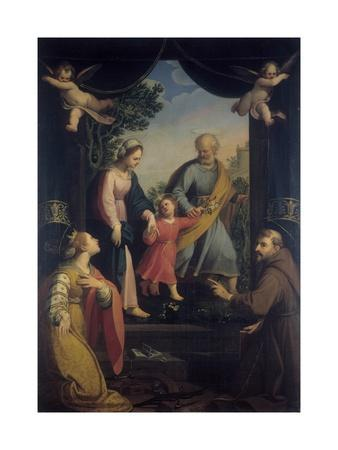Return from Flight to Egypt with Sts. Catherine and Francis