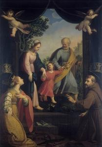 Return from Flight to Egypt with Sts. Catherine and Francis by Benedetto Marini