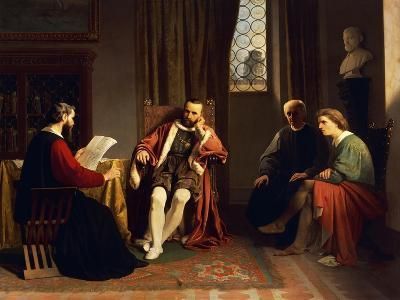 Benedetto Varchi Reading His 'Storia Fiorentina' to Cosimo I-Giuseppe Ciaranfi-Giclee Print