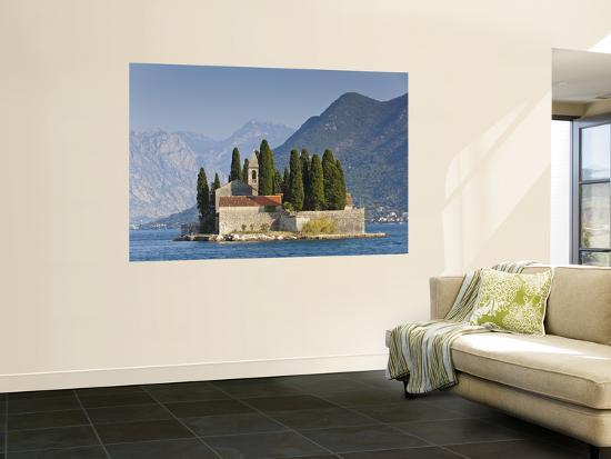 Benedictine Monastery on St George's Island in Bay of Kotor-Richard l'Anson-Wall Mural