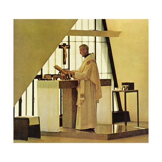 """Benedictine Monk,"" November 28, 1964-Burt Glinn-Giclee Print"