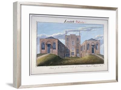 Benevolent Society of St Patrick's Building, Stamford Street, Southwark, London, C1825-G Yates-Framed Giclee Print