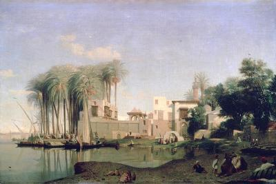 Beni Suef on the Nile, 19th Century-Prosper Georges Antoine Marilhat-Giclee Print