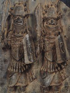 Benin Plaque with Two Warriors, Nigeria, 16th-17th Century