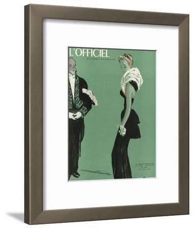 L'Officiel, October 1945 - Robe de Lucien Lelong