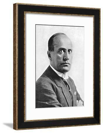 Benito Mussolini, Italian Fascist Dictator, C1930S--Framed Giclee Print