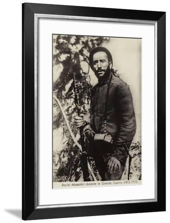 Benito Mussolini--Framed Photographic Print