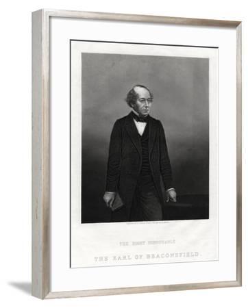 Benjamin Disraeli, Earl of Beaconsfield, Prime Minister, 1880-DJ Pound-Framed Giclee Print