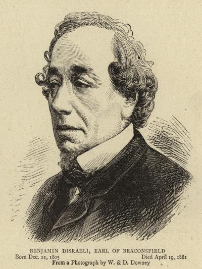Benjamin Disraeli, Earl of Beaconsfield--Giclee Print