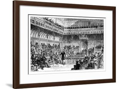 Benjamin Disraeli Introducing His Reform Bill in the House of Commons, C1867--Framed Giclee Print