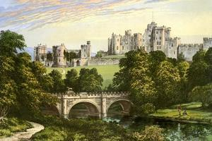 Alnwick Castle, Northumberland, Home of the Duke of Northumberland, C1880 by Benjamin Fawcett