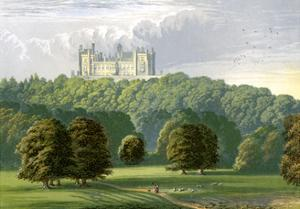 Belvoir Castle, Leicestershire, Home of the Duke of Rutland, C1880 by Benjamin Fawcett