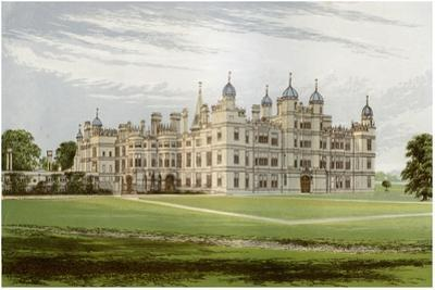 Burghley House, Lincolnshire, Home of the Marquis of Exeter, C1880 by Benjamin Fawcett