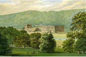 Chatsworth House, Derbyshire, Home of the Duke of Devonshire, C1880 by Benjamin Fawcett
