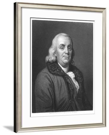 Benjamin Franklin, 18th Century American Scientist, Inventor and Statesman, 1835-Joseph Siffred Duplessis-Framed Giclee Print