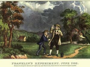 Benjamin Franklin and Kite, 1876