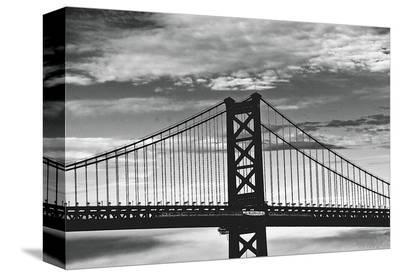 Benjamin Franklin Bridge-Erin Clark-Stretched Canvas Print