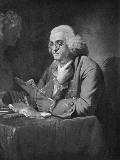 Benjamin Franklin, C1766-David Martin-Giclee Print
