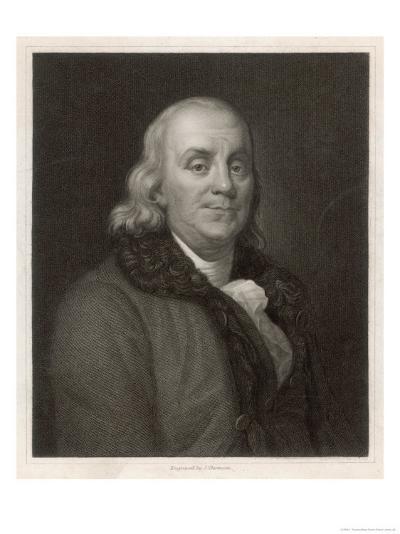 Benjamin Franklin the American Statesman Scientist and Philosopher-J. Thomson-Giclee Print