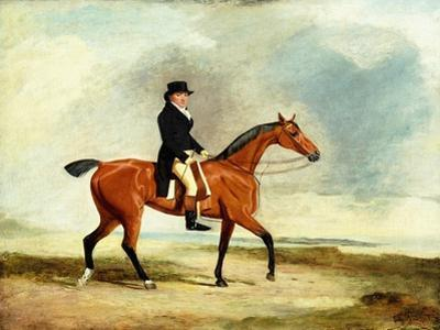 Francis Const on His Bay Hunter Riding Near the Sea, 1806