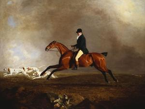 Thomas Mellish on His Hunter 'saucebox' by Benjamin Marshall