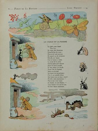 The Cicada and the Ant, from the 'Fables' by Jean de la Fontaine by Benjamin Rabier