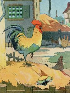 The Cock, Illustration from 'Le Buffon de Benjamin Rabier', Adapted from 'Histoire Naturelle' of… by Benjamin Rabier
