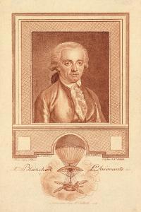 Mr. Blanchard, Aeronaut, C.1780-1800 by Benjamin Samuel Bolomey