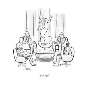 """""""Bye-bye!"""" - Cartoon by Benjamin Schwartz"""