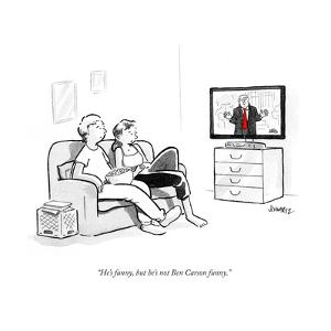 """""""He's funny, but he's not Ben Carson funny."""" - Cartoon by Benjamin Schwartz"""