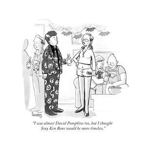 """I was almost David Pumpkins too, but I thought Sexy Ken Bone would be mor?"" - Cartoon by Benjamin Schwartz"
