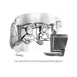 """I was undecided, but now I'm leaning toward Elaine Quijano."" - Cartoon by Benjamin Schwartz"