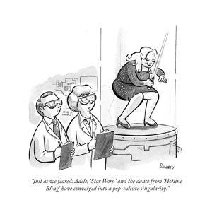 """""""Just as we feared: Adele, 'Star Wars,' and the dance from 'Hotline Bling'?"""" - Cartoon by Benjamin Schwartz"""